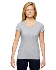 Champion Ladies Vapor Cotton Short Sleeve V Neck T-Shirt