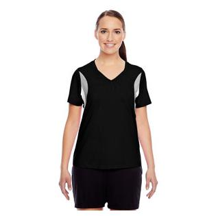 Team 365 Ladies Short Sleeve Athletic V Neck Tournament Jersey