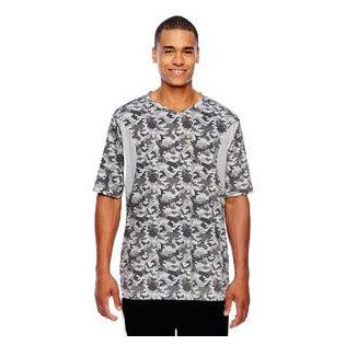 Team 365 Mens Short Sleeve Athletic V Neck Tournament Sublimated Camo Jersey