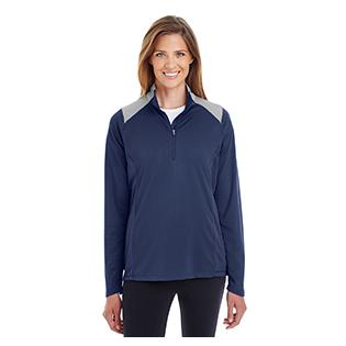 Team 365 Ladies Command Colorblock Snag Protection Quarter Zip