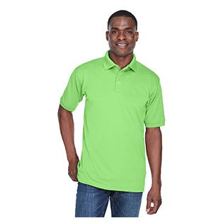 UltraClub Mens Platinum Performance Piqu Polo with TempControl Technology