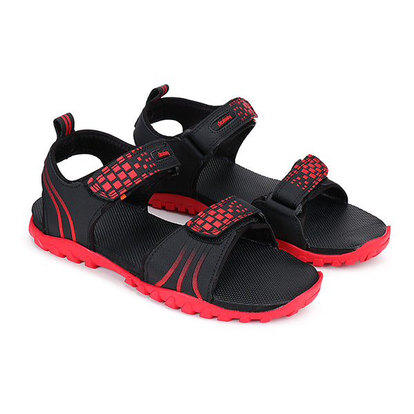 Density Men's TPR Adjustable Strap Black Sandal
