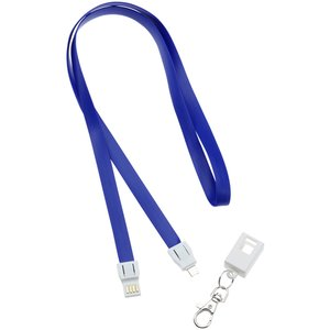 e- ID Lanyard with Charging Cable