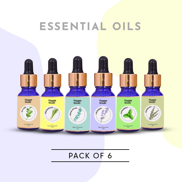 Hygge Souls Essential Oils (Pack of 6)