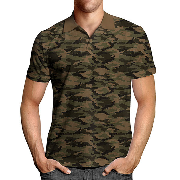 camouflage polo t shirt