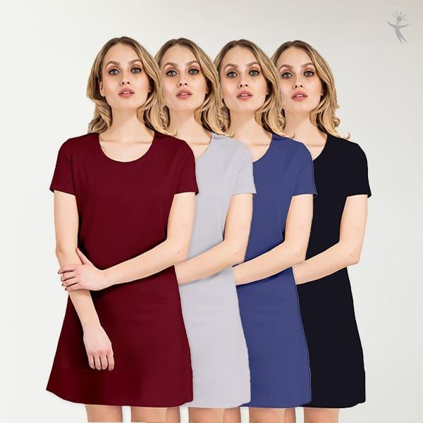 Half sleeve dress for women