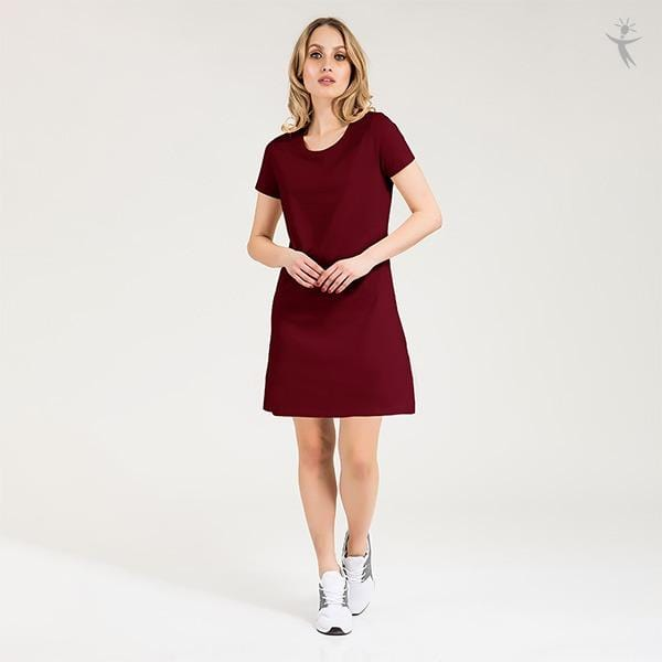 Multi colored t shirt dress for women