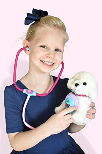 Pet Vet Toy Set - Veterinarian Set with Stethoscope, Syringe, Thermometer & More