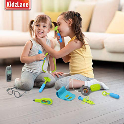Kids Doctor Kit with Electronic Stethoscope - Child Dr Equipment Toy