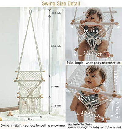 Hanging Baby Swing - Hammock Chair for Infant
