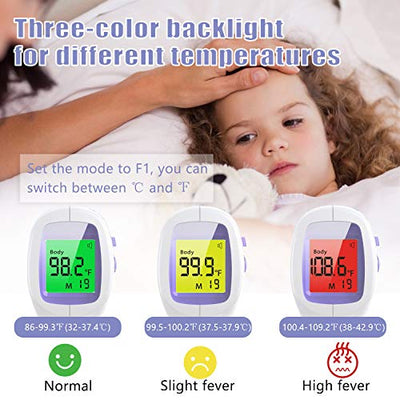 Infrared Forehead Thermometer for Kids - No Touch Instant Reading
