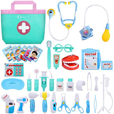 Toy Doctor Kit 38 Pieces - Play Doctor Kit Toys for Ages 3 and up