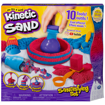 Kinetic Sand for Kids - Sandisfying Set with 2lbs of Sand and 10 Tools