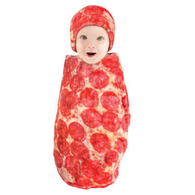 Baby Pizza Blanket and Cap - Pepperoni Pizza Blanket & Cap