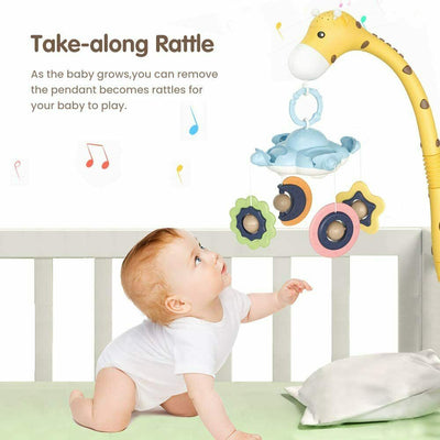 Projection Crib Mobile for Babies - Giraffe Musical Crib Toy
