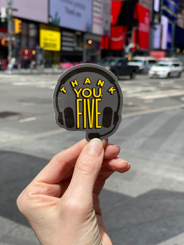 Thank You, Five Sticker