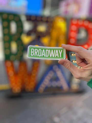 Broadway Street Sign Sticker