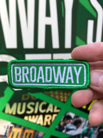 Broadway Street Sign Embroidered Patch