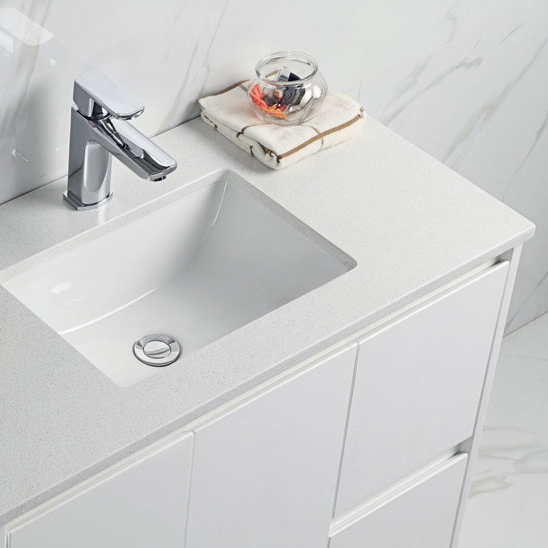 Alice Double Drawer with Soft-Close Floor Mounted Vanity (600mm-1500mm)