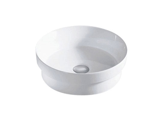 Bailey Gloss White Circle Semi-Inset Ceramic Basin 355mm