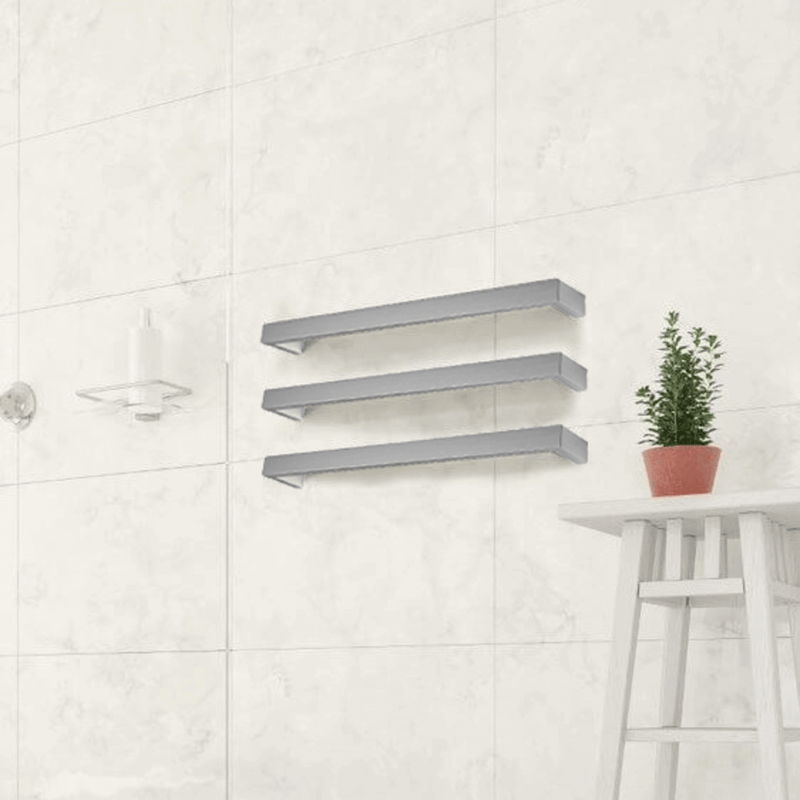 Thermorail Square Electric Heated Towel Rail 800mm x3