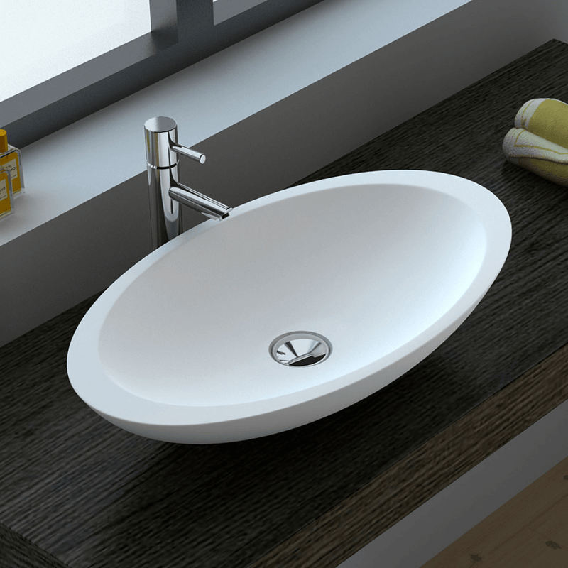 Bahama Oval Stone Basin 600mm