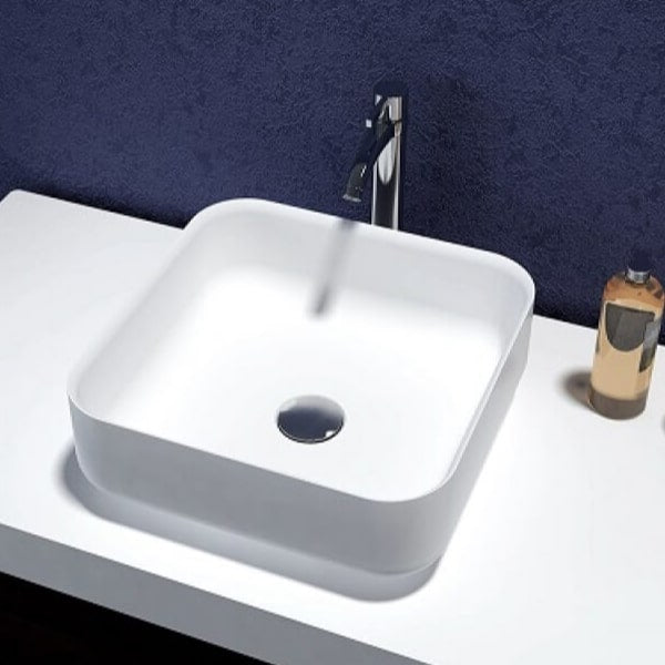 Bliss Square Solid Surface Basin 360mm