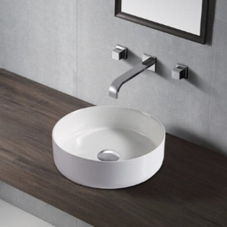 Thalia Thin Edge Circle Ceramic Basin 360x360mm