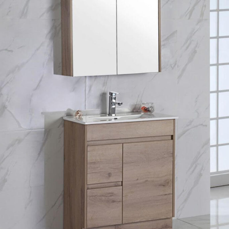 Emma Timber Soft-Close Floor Mounted Vanity (600mm-1500mm)