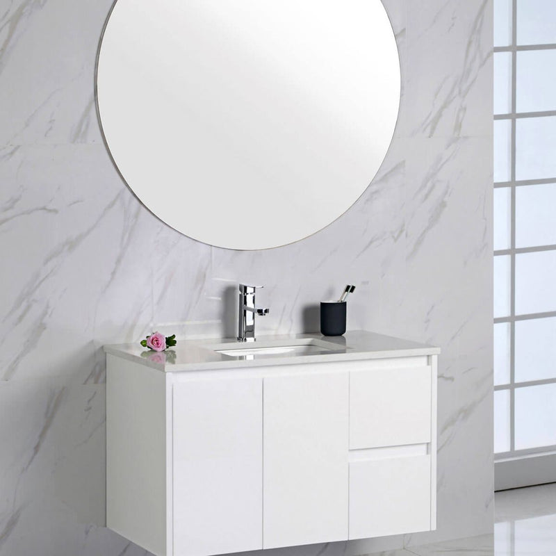 Limson White Soft-Close Wall Hung Vanity (600mm-1500mm)
