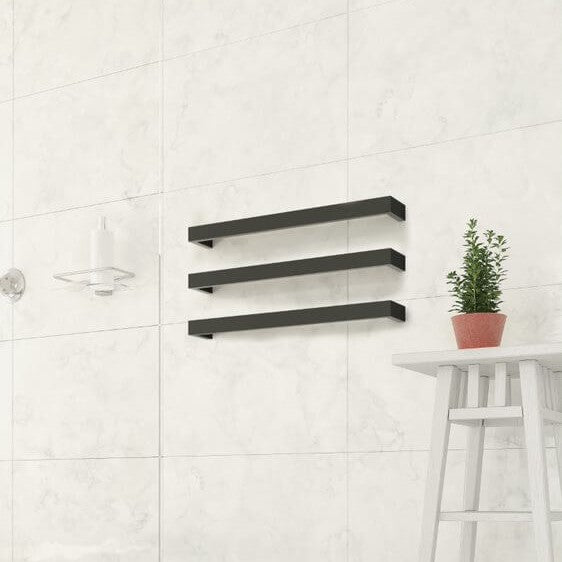 Thermorail Square Heated Towel Rail 600mm x3