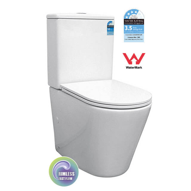 Ian 2149 Rimless Back to Wall Toilet Suite