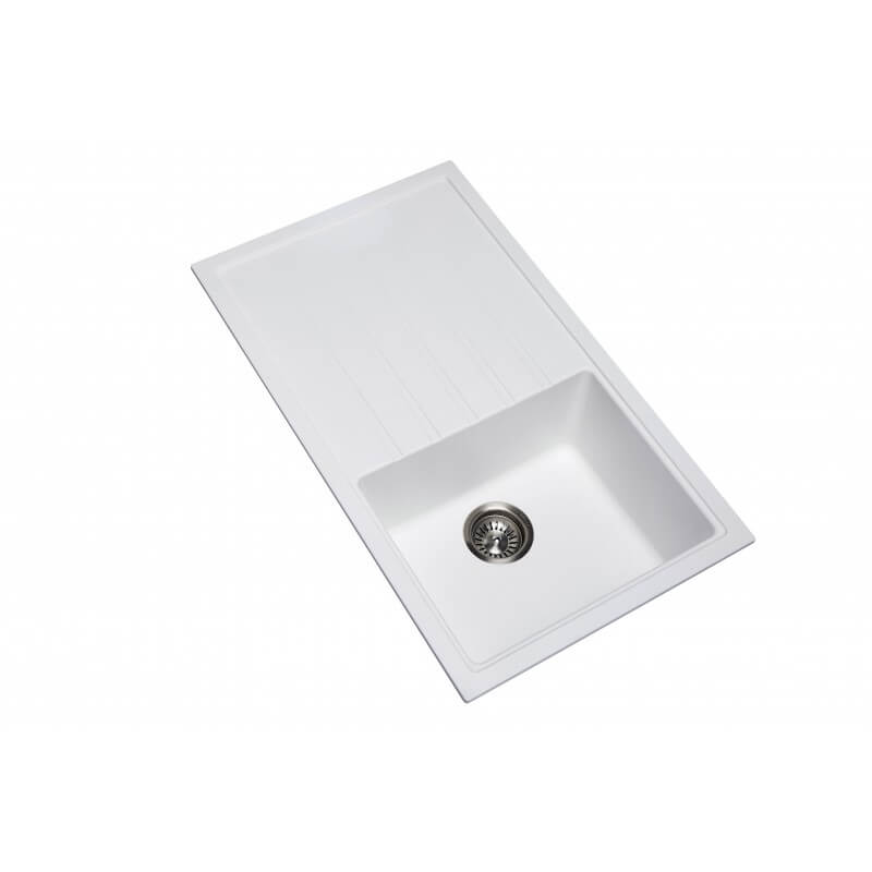 Mia Single Bowl Granite Sink with Drainer 205/220mm Deep