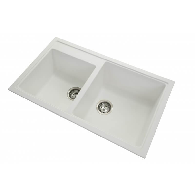 Mia Double Bowl Granite Sink 860x500x205mm