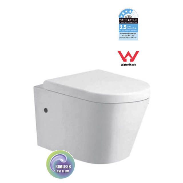 Troy Wall Hung Rimless Toilet Suite
