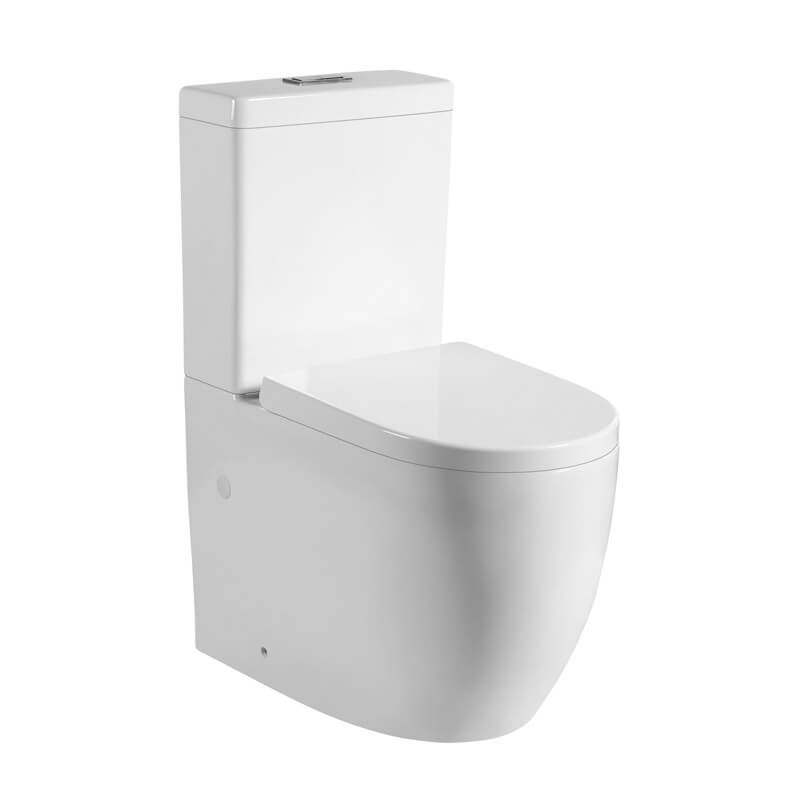 Zoe 023 Egg Shaped Back to Wall Toilet Suite