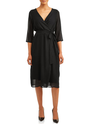 Love Sadie Women's Wrap Woven Dress