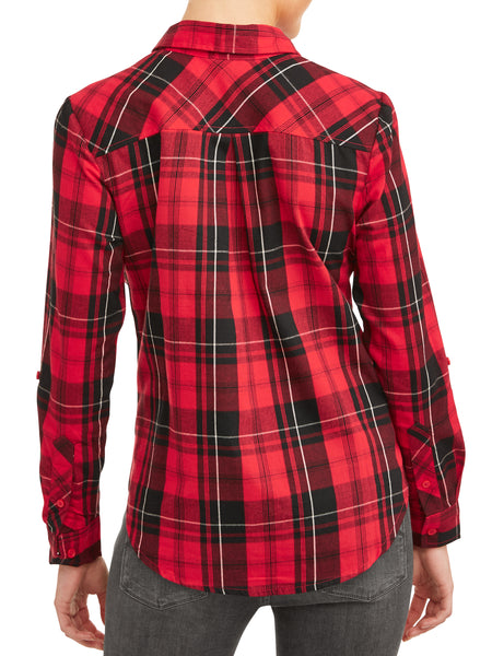 Women's Woven Plaid Shirt