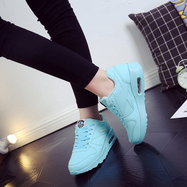 Women warm shoes sneakers Winter sport trainers women running shoes zapatillas deportivas mujer chaussures femme 41