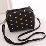 PU leather Women Bag Character Rivet Babysbreath Candy Colors Messenger Bags