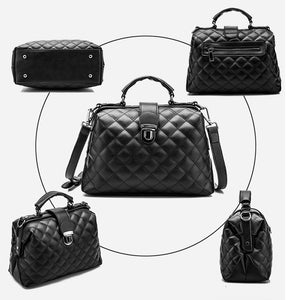 Diamond Pattern Women Messenger Bags Crossbody Soft PU Leather Shoulder Bag BB-015-1