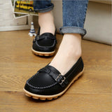 Spring and autumn new leather mother shoes tendon bottom flat women's shoes