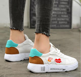 New white female wild chic tide shoes breathable fashion Harajuku student flat casual shoes zapatos mulheres