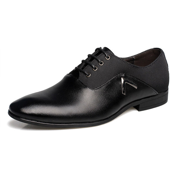 Men's Shoes New Style Patent Leather Office / Casual Fashion Comfort Black / Orange Oxfords/Brown Oxfords