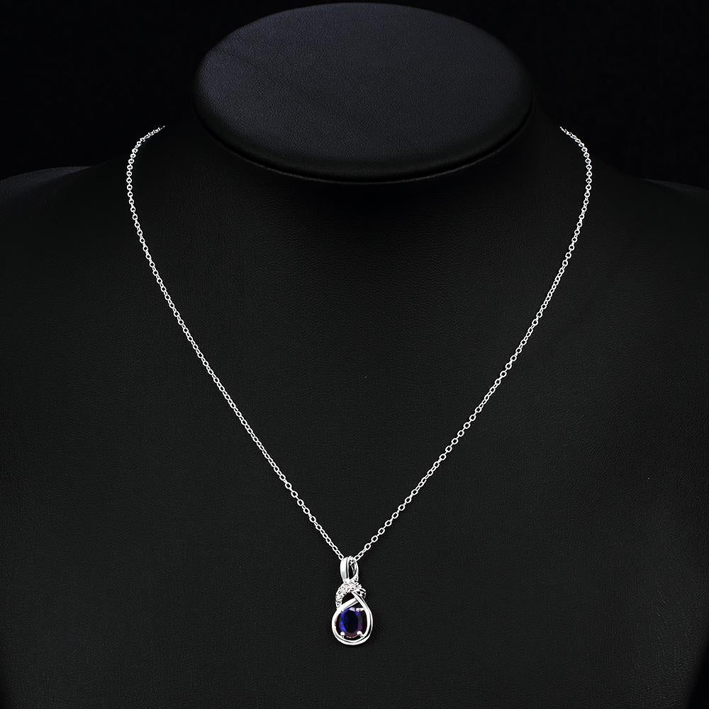 N028-B Silver plated necklace brand new design pendant necklaces jewelry for women