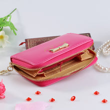 Load image into Gallery viewer, Fashion Women's Mini Faux Leather Purse Bowknot Wallet Card Holder Handbag