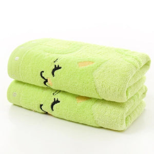 Fashion 1 Piece Embroidery Animal Pattern Soft Towel for Kids Children