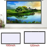 Projection Screen Portable Fabric Foldable 3D HD For Home Theater Outside