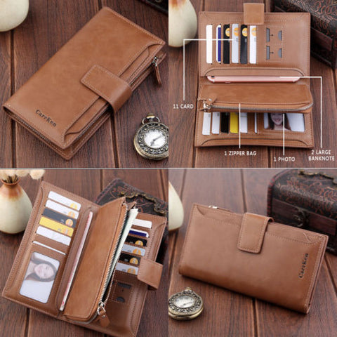 New Fashion Women Wallets Hasp Nubuck Leather Zipper Wallet