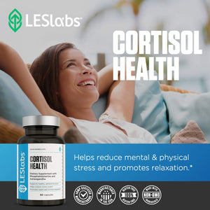 LES Labs Cortisol Health, Adrenal Support Supplement